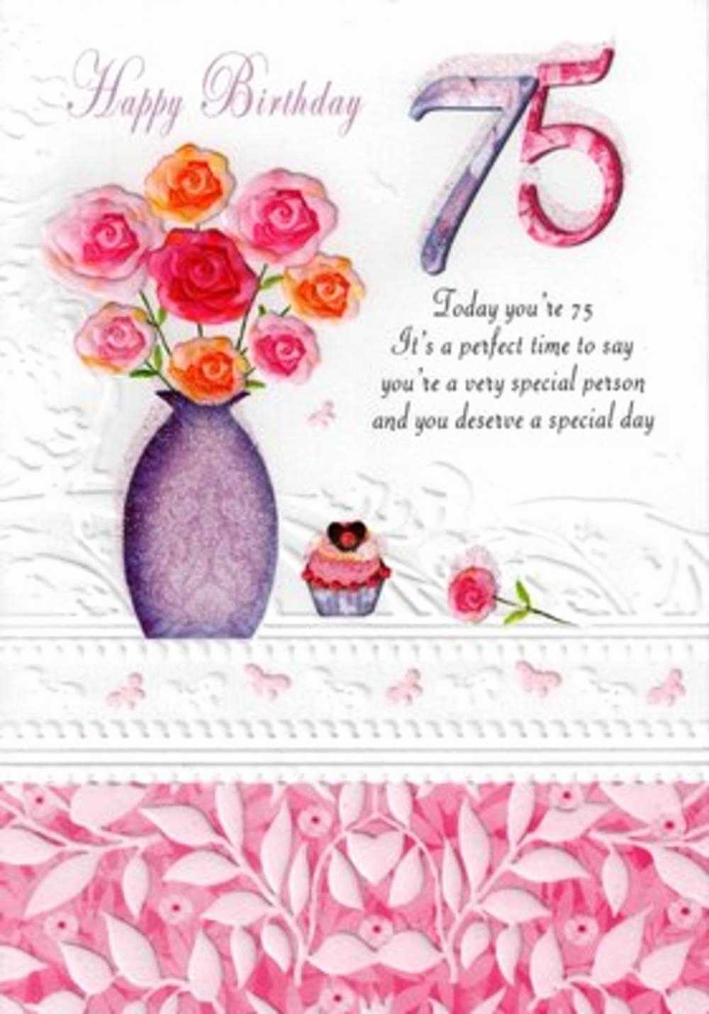75th Birthday Greeting Cards Wishes Best Of