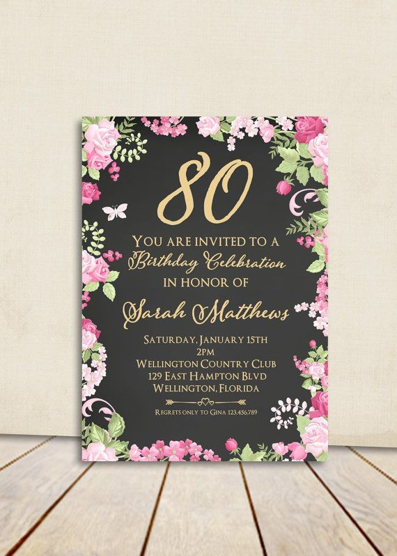 75th birthday invitations printable ; 25-unique-80th-birthday-invitations-ideas-on-pinterest-75th-80th-birthday-invitations-1