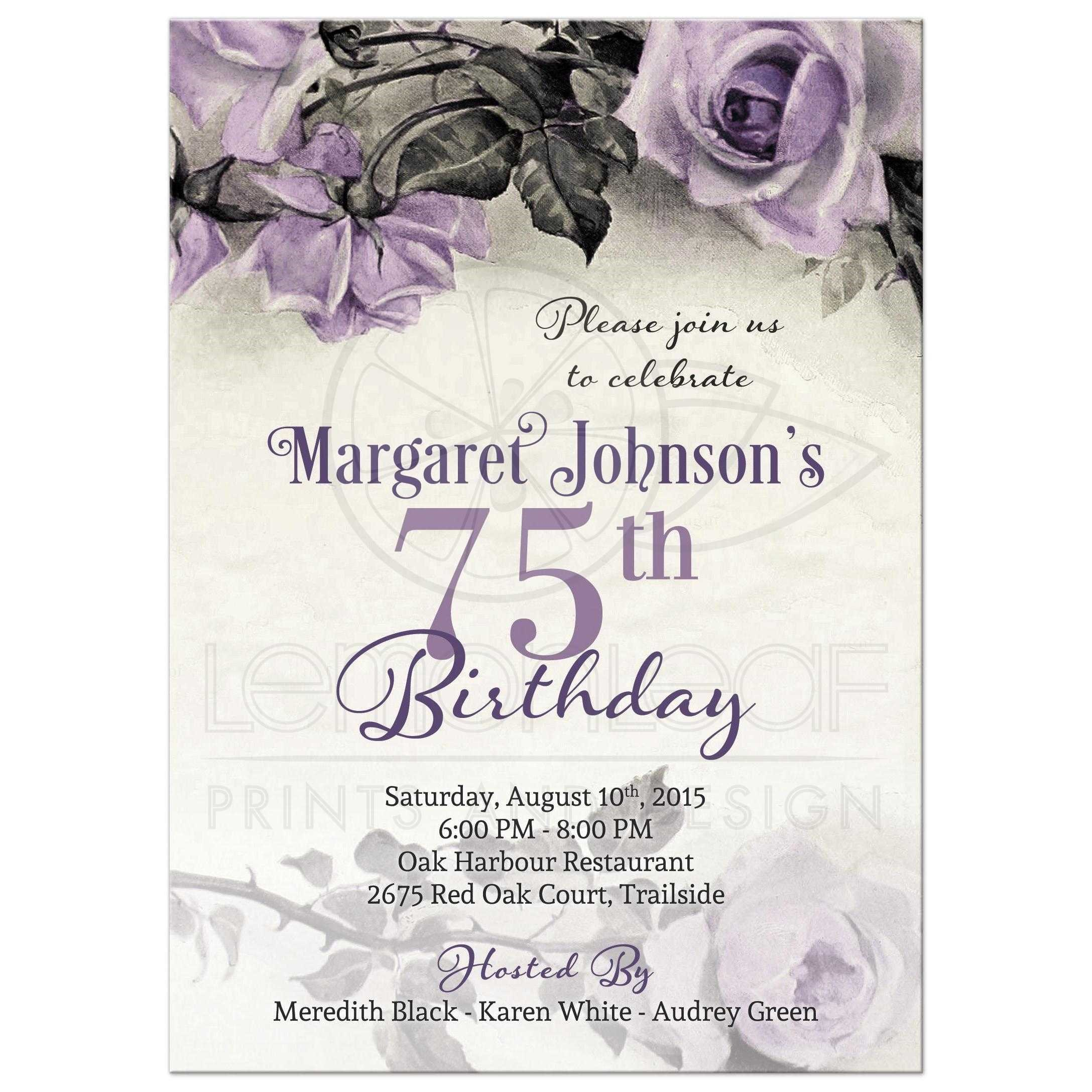 75th birthday invitations printable ; Stunning-75Th-Birthday-Invitations-For-Additional-Free-Printable-Birthday-Party-Invitations