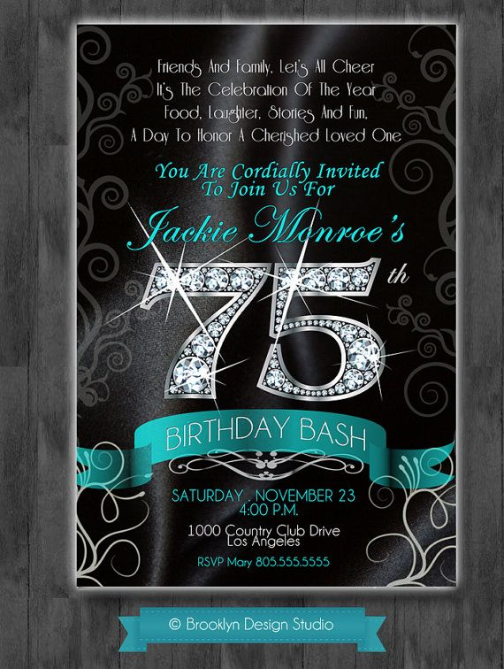 75th birthday invitations printable ; c662dbbcbd52626f4e9836fc73ee2c58