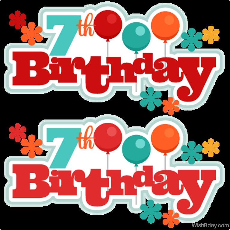 7th birthday clipart ; Happy-Seventh-Birthday-With-Colorful-Balloons