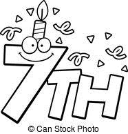7th birthday clipart ; cartoon-7th-birthday-a-cartoon-illustration-of-the-text-7th-with-a-birthday-candle-and-confetti-illustration_csp23542029