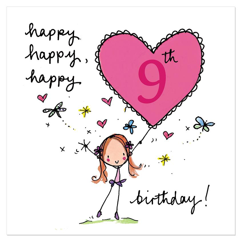 9th birthday card messages ; 8bac40d12204730e0280614b513dbb98