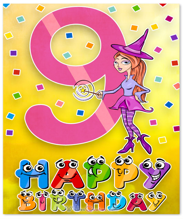 9th birthday card messages ; 9th-Birthday-Card-for-Girl