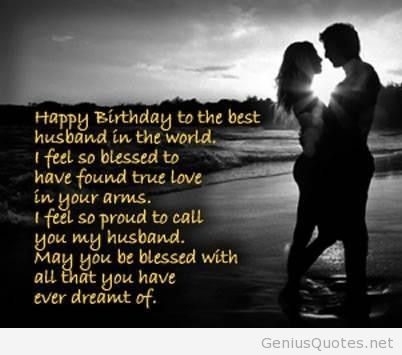 a birthday quote for my husband ; Happy-birthday-to-the-best-husband-around-the-world
