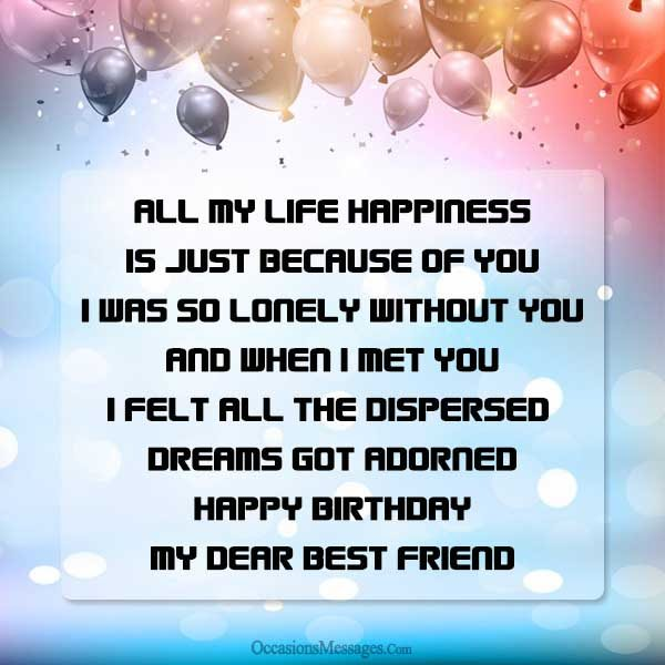 a birthday wish for my best friend ; dc60bcccc2a114f87d01362255c3ba09