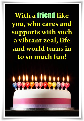 a quote for my best friend birthday ; warm-birthday-quote