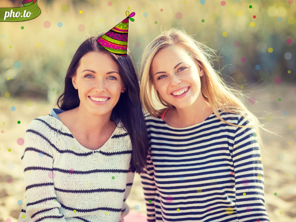add a birthday hat to a picture ; birthday-party-hat-effect