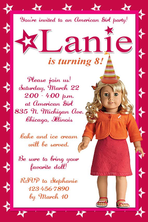 american girl birthday card printable ; american-girl-birthday-invitations-combined-with-various-colors-to-modify-your-Birthday-Invitation-Cards-invitation-card-design-10