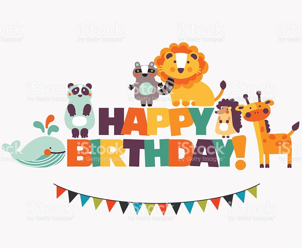 animal birthday clipart ; happy-birthday-clip-art-animals-lovely-card-with-funny-cute-and-garland