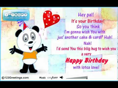 animated birthday card text message ; hqdefault