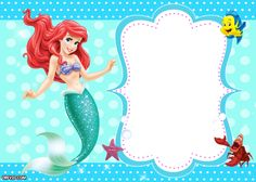 ariel birthday invitations printable ; 4ab2246ea6668e26758989d7f55062de