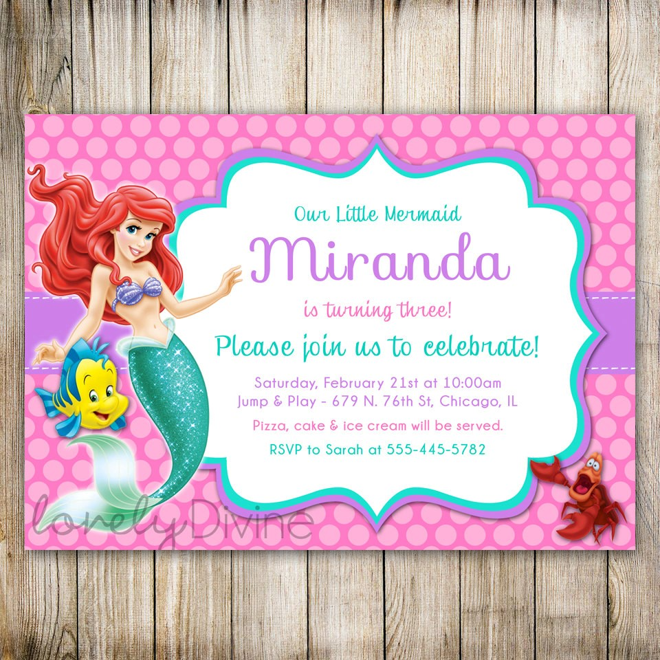 ariel birthday invitations printable ; Popular-Ariel-Birthday-Invitations-To-Make-Birthday-Invitations