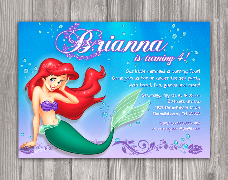 ariel birthday invitations printable ; ariel-birthday-invitations-printable-little-mermaid-invitations-free-printable-invitation-template