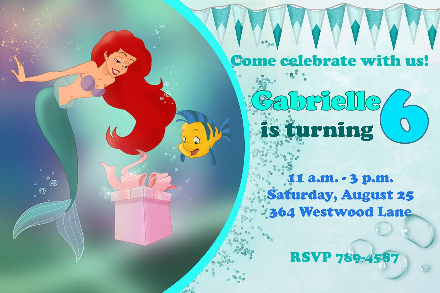 ariel birthday invitations printable ; c0a075da69d546edd63a5866088f9bb0