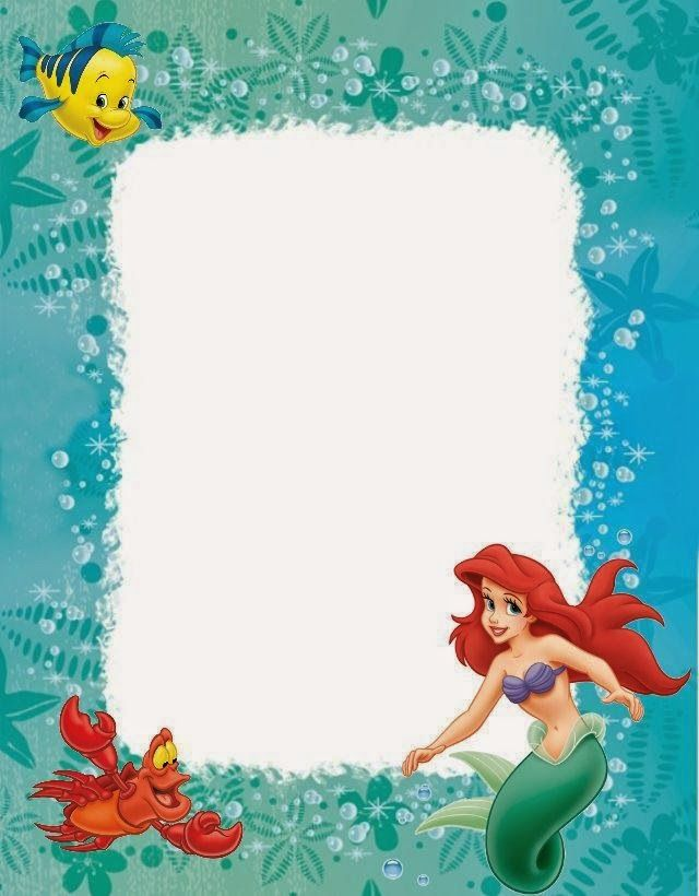 ariel birthday invitations printable ; little-mermaid-invitation-template-best-25-little-mermaid-little-mermaid-printable-birthday-card