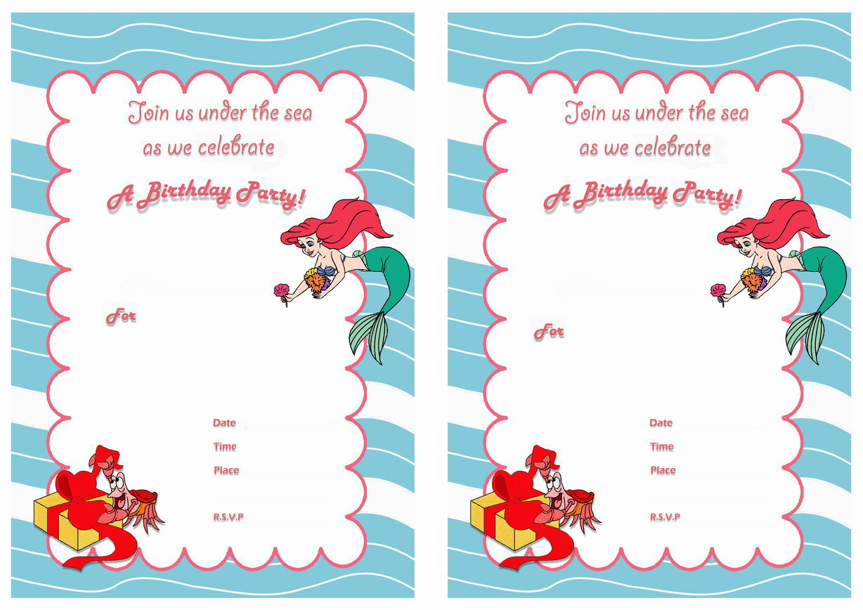 ariel birthday invitations printable ; mermaid-birthday-invitations-cartoons-images_mermaid-birthday-invitations-cartoons-images-com