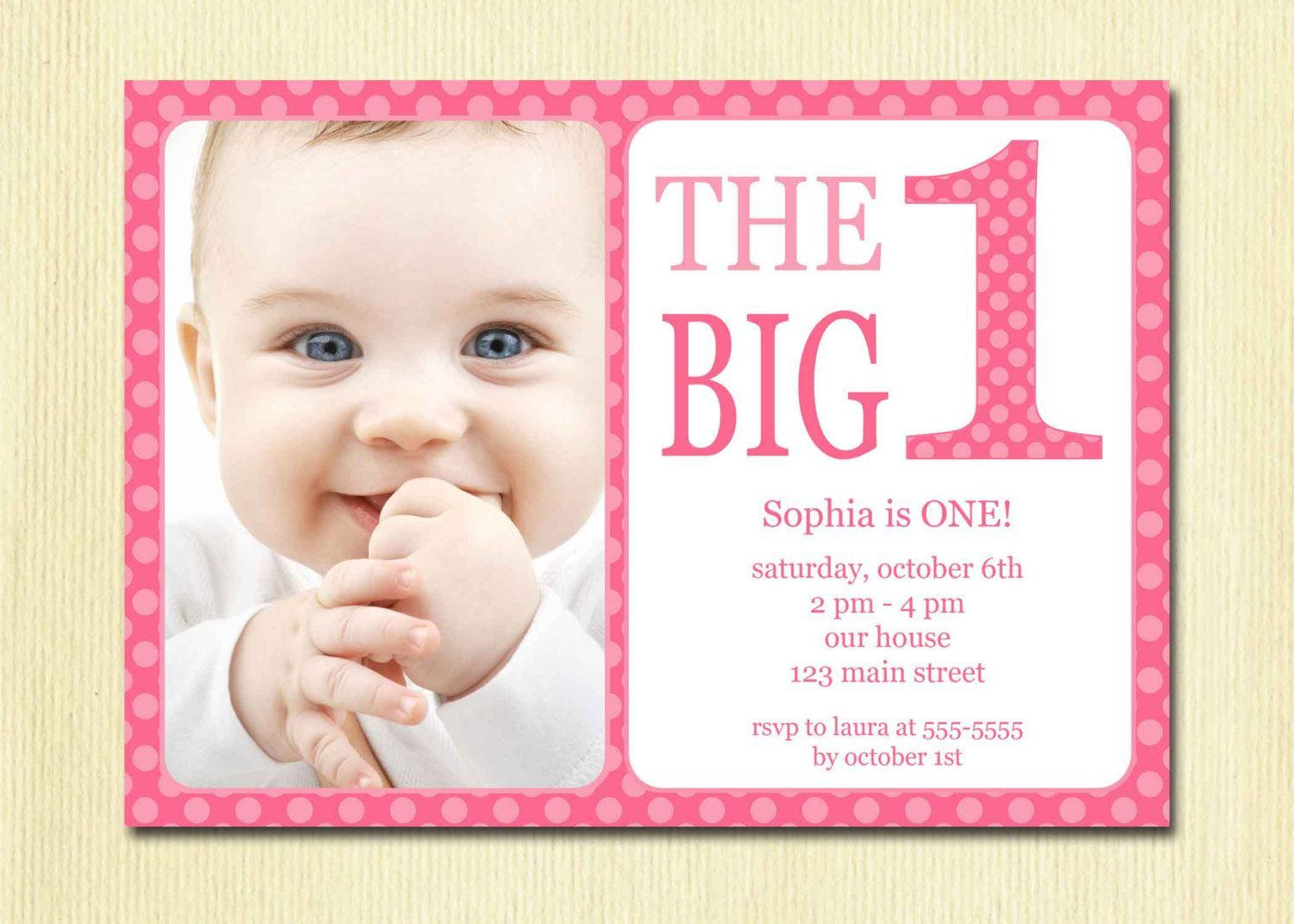 baby birthday invitation template ; 6dff1ef104eaa518aba7532bd490b829
