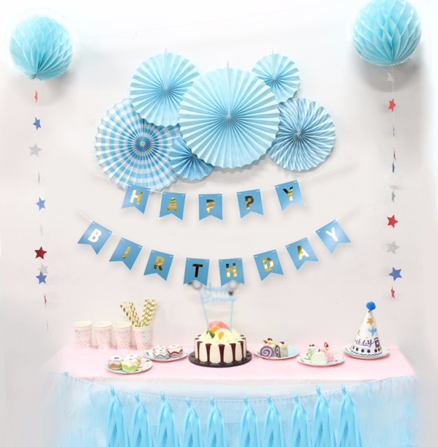 baby birthday party themes ; Baby-Shower-Birthdays-Party-Decorations-Boy-Holiday-Decorations-DIY-Kids-Party-Decor-Blue-Theme-Birthday
