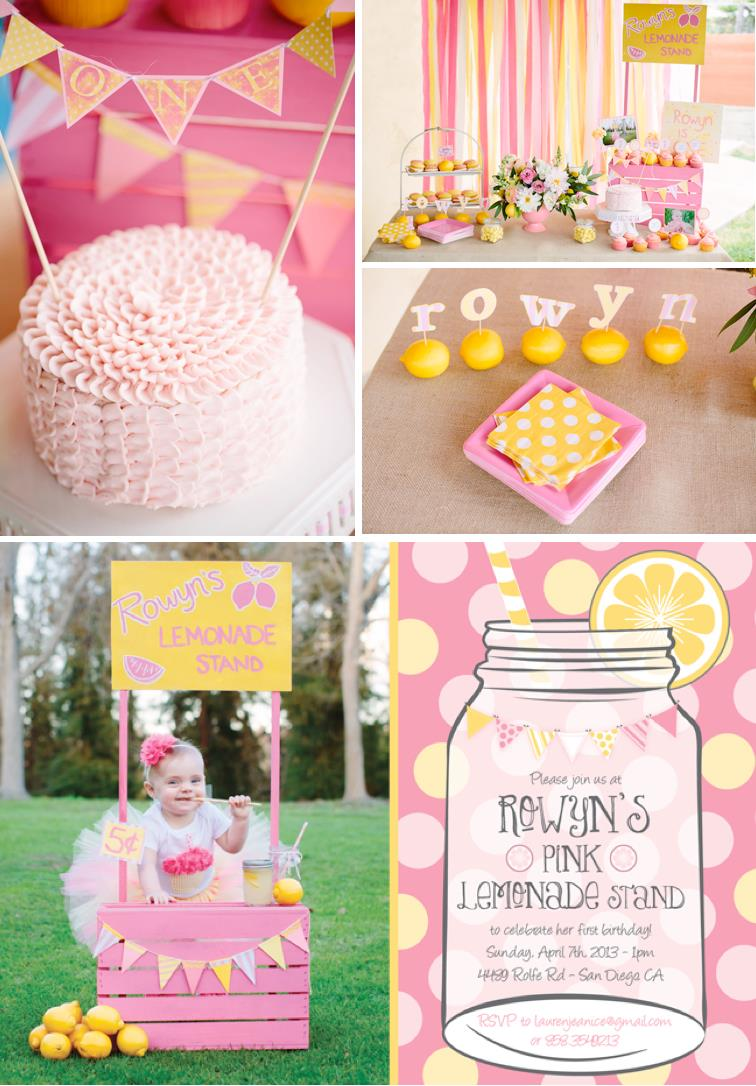 baby birthday party themes ; Pink-lemonade-stand-themed-birthday-party-with-SUCH-CUTE-ideas-Via-Karas-Party-Ideas-KarasPartyIDeas