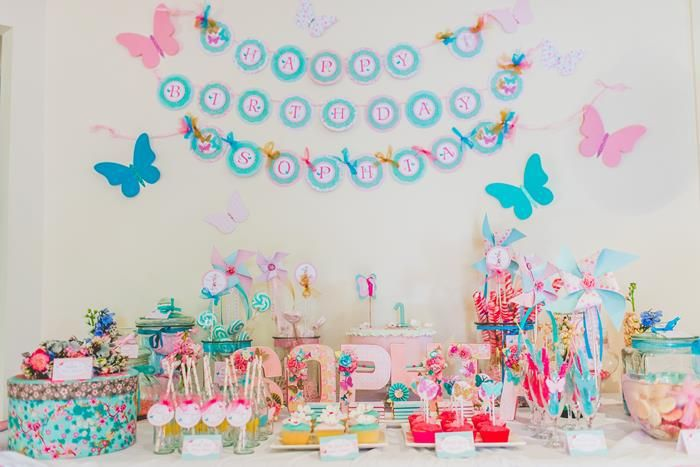 baby birthday party themes ; butterfly1