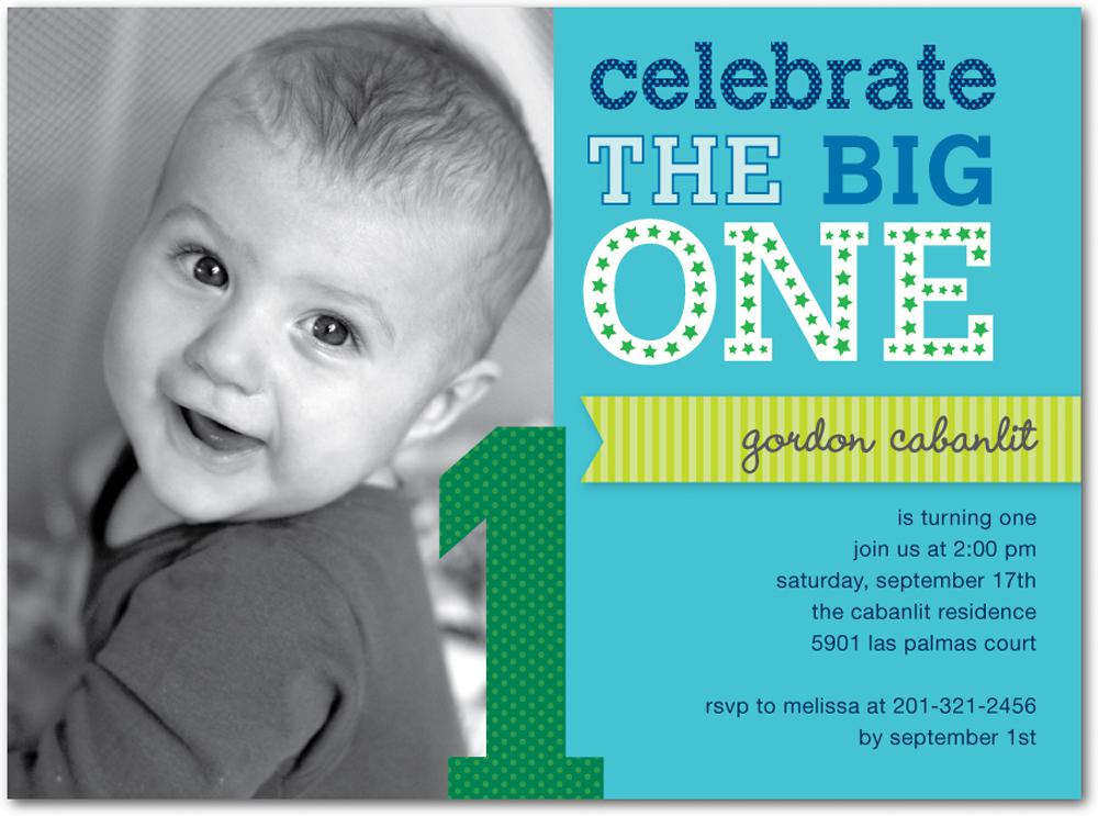 baby boy first birthday photo invitations ; 1st-Birthday-Invitations-For-Kids-Birthday-Designs-and-Wording-Templates