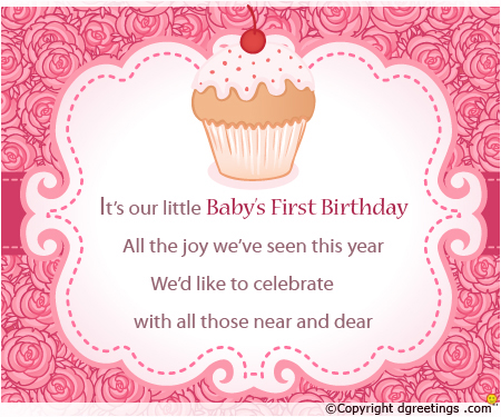 baby girl 1st birthday card messages ; I-am-turning-one