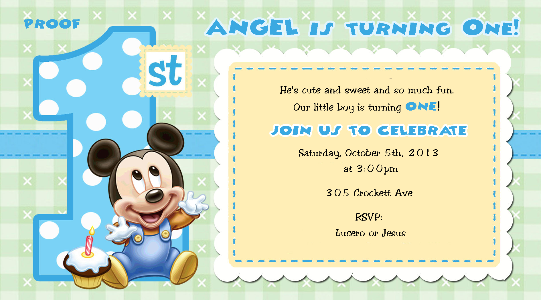 baby mickey mouse 1st birthday printable invitations ; Baby-Mickey-Mouse-1st-Birthday-Invitation