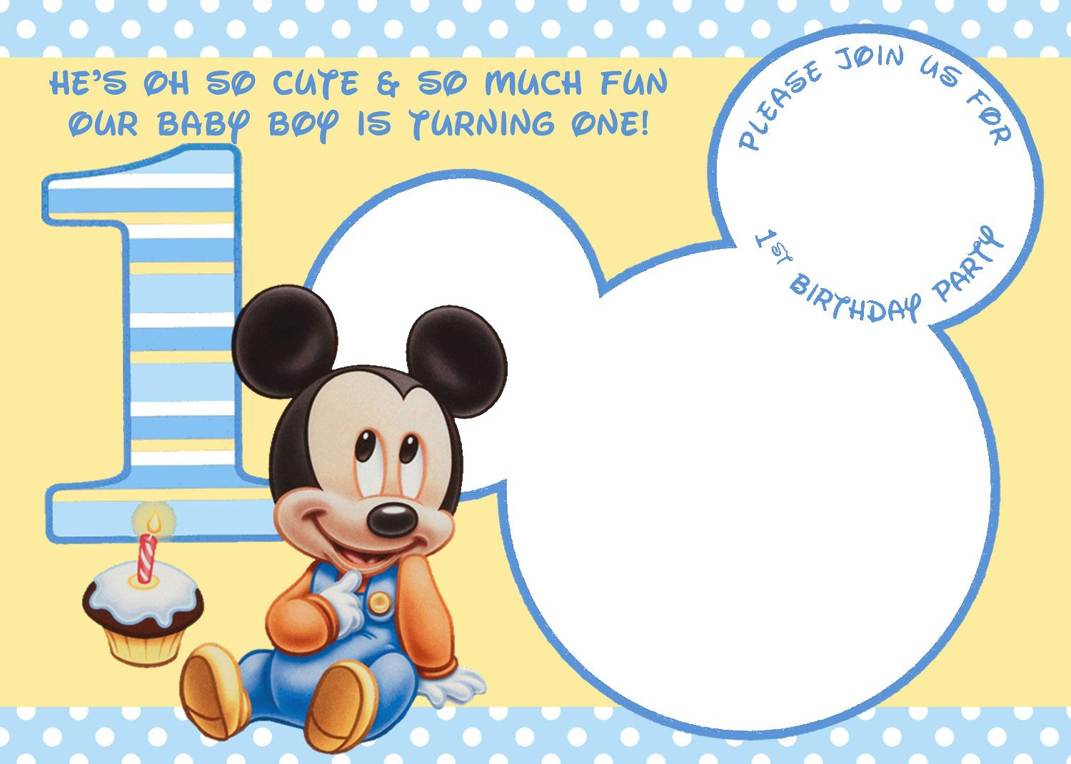 baby mickey mouse 1st birthday printable invitations ; ac710e3fadc99c63c5626480ad0c1ef3