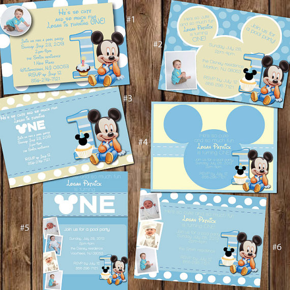 baby mickey mouse 1st birthday printable invitations ; cb1f8c47cb9b59e2745c36ee8368b90a