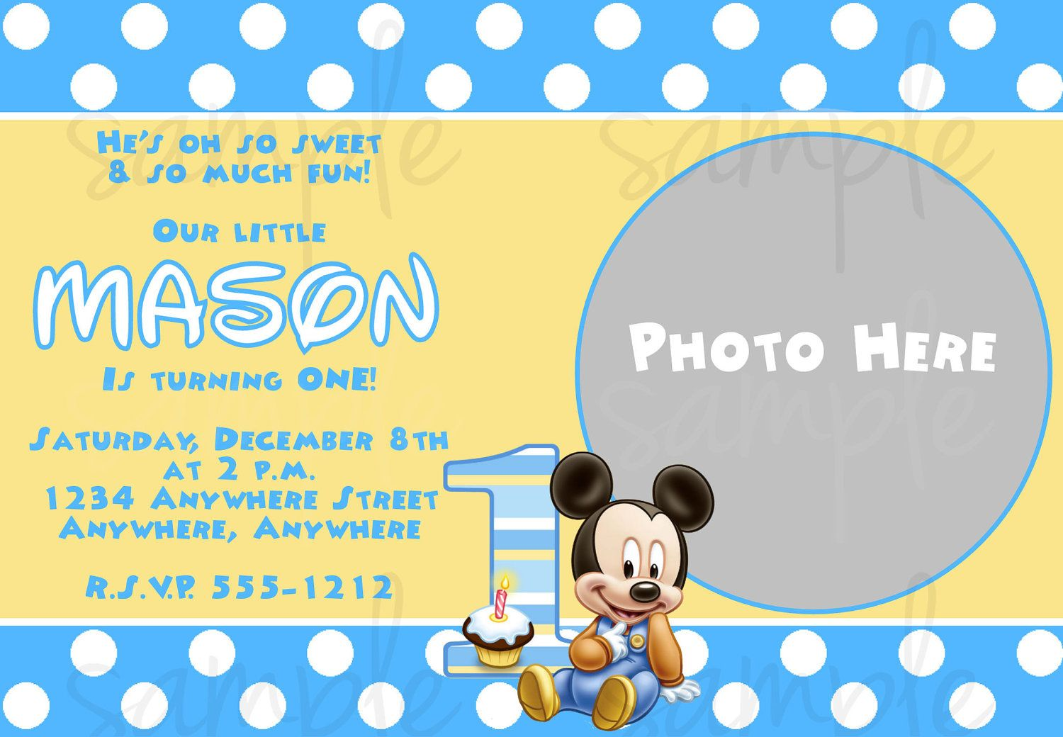 baby mickey mouse 1st birthday printable invitations ; f70ee024f1f53c859dbb949798ad11cf