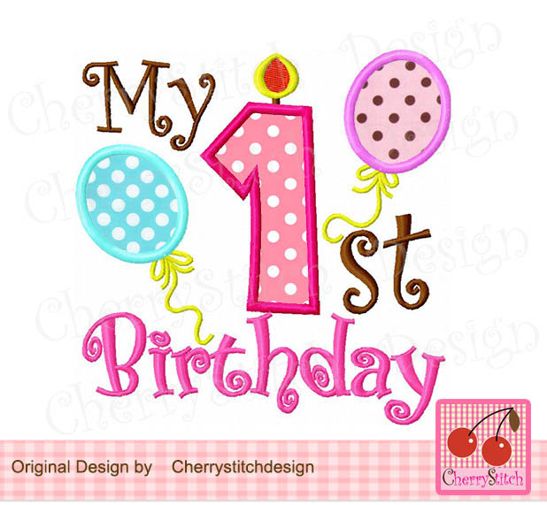 baby's first birthday clipart ; 1st-number-clipart-46