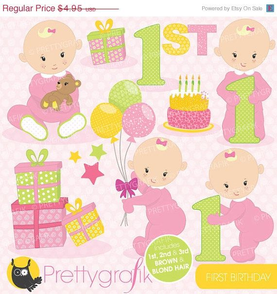 baby's first birthday clipart ; 67b896a0136cd4cf7fe84f26641fa4e2