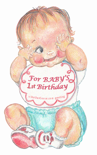 baby's first birthday clipart ; babyBib