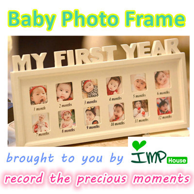 baby's first birthday picture frames ; 563996716