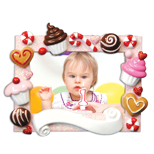 baby's first birthday picture frames ; PF46FBD