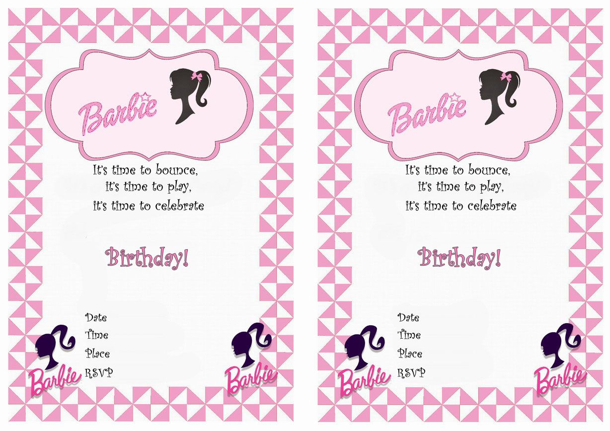 barbie birthday party invitations printable ; f2fbe4ba85669727abed04f44f7eec8a