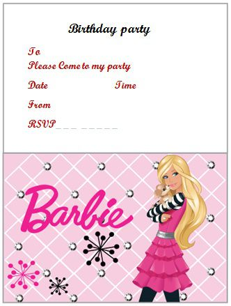 barbie birthday party invitations printable ; free-birthday-invitation-templates-for-adults-barbie-birthday-invitation-word