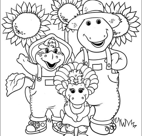 barney birthday coloring pages ; 61add29521ac59cf73cd61d2eb5398f3