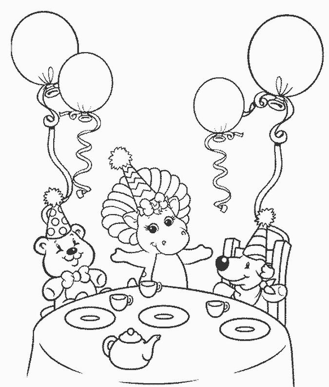 barney birthday coloring pages ; 83e4869038dba18ceb9d7672652291b2