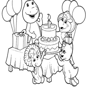 barney birthday coloring pages ; Barney-and-Friends-Celebrate-Birthday-Coloring-Pages-300x300