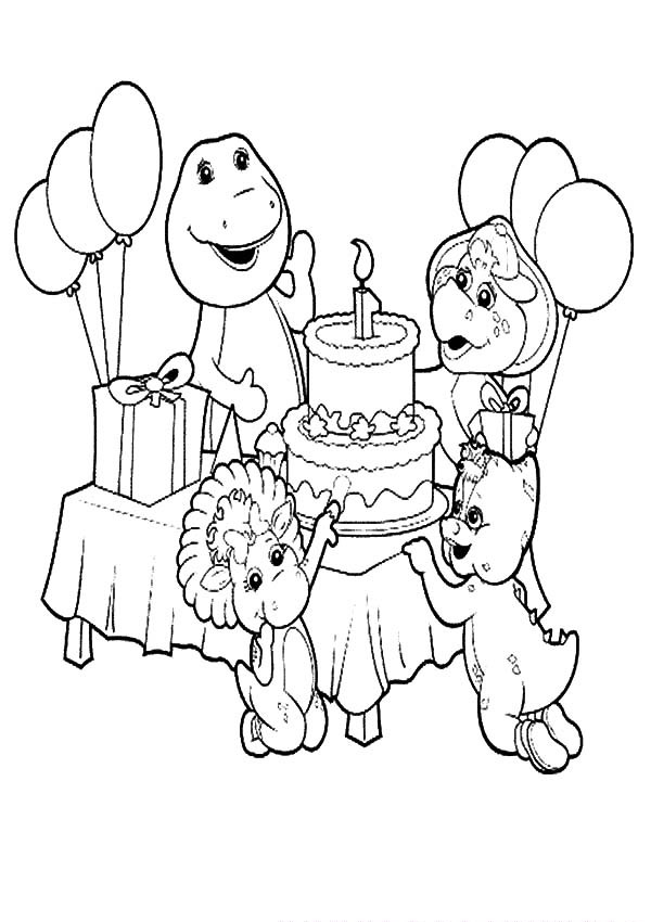 barney birthday coloring pages ; Barney-and-Friends-Celebrate-Birthday-Coloring-Pages-600x850