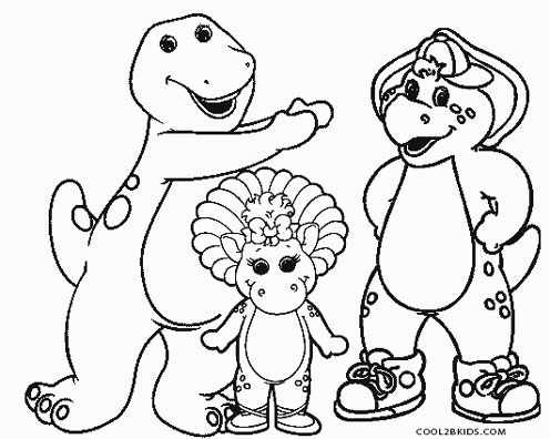 barney birthday coloring pages ; Barney-and-Friends-Coloring-Pages
