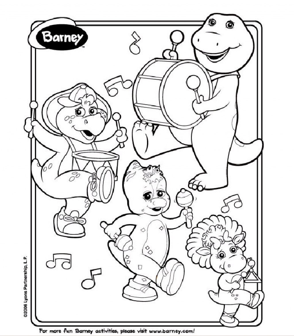 barney birthday coloring pages ; innovational-ideas-barney-coloring-pages-free-printable-crayons-birthday