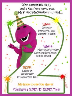 barney photo birthday invitations ; barney-birthday-party-invitations-is-the-newest-and-best-concepts-of-exquisite-Party-invitations-1