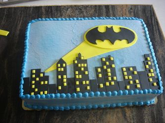 batman birthday sheet cake ; 1be311509ea4f7859e6567d2dc82eacf