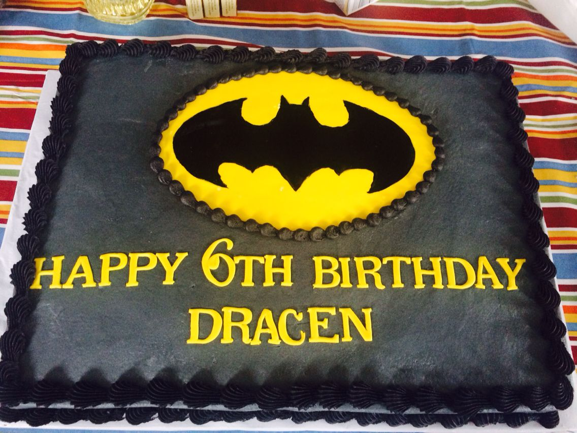 batman birthday sheet cake ; 6cca6d6eac43c4f120bde169d96500c7