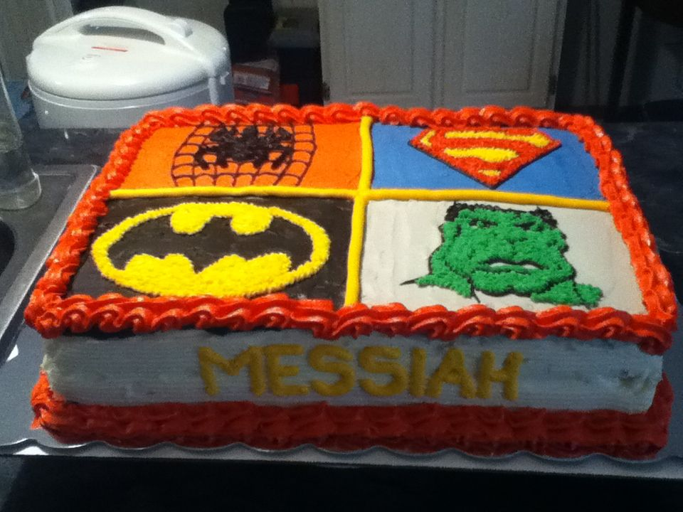 batman birthday sheet cake ; 6f34310fd1ad53fea9e97c4655d15074