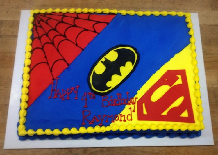 batman birthday sheet cake ; 831124f10d74eaa1d1a148140f6cf3b0