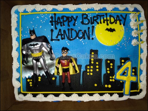 batman birthday sheet cake ; FC129